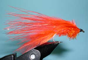 Randy's Belly Boat Fly, Orange