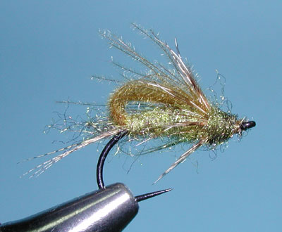CDC Bubbleback Caddis Emerger, Olive