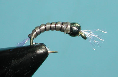 Cream/Gray Spanflex Emerger