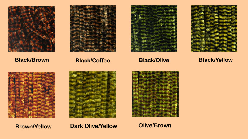 color chart Variegated Chenille