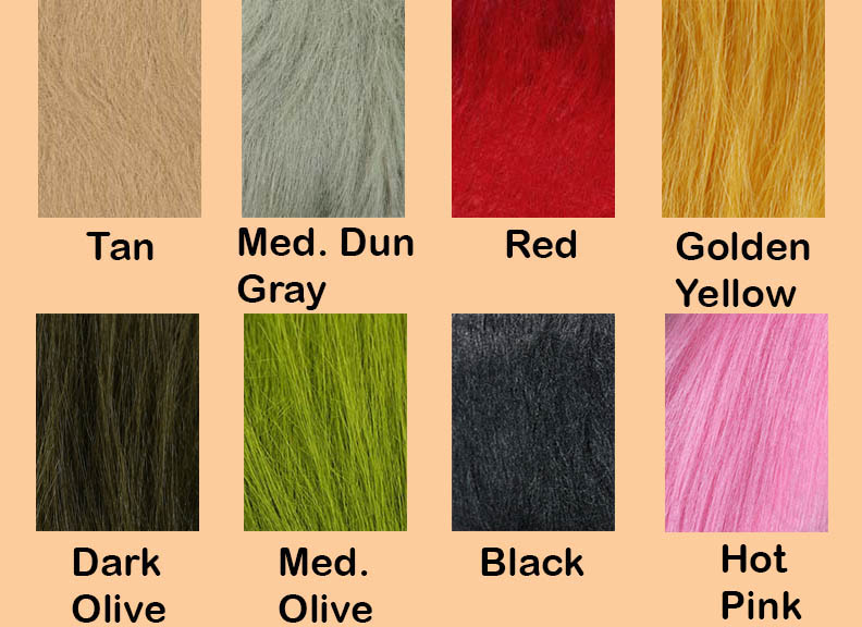 Color Chart Extra Select Craft Fur
