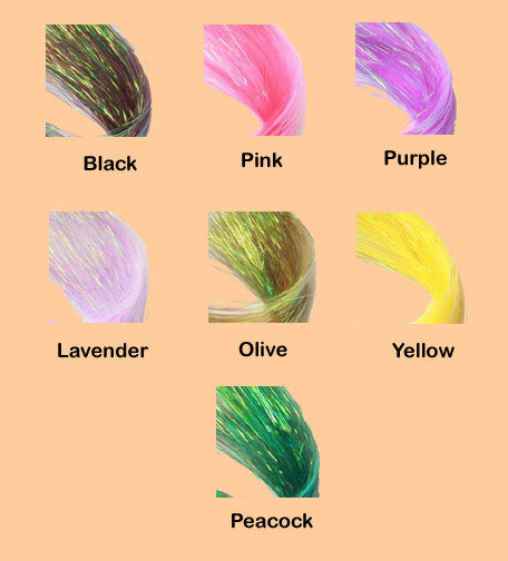 color chart Dyed Pearl Flashabou