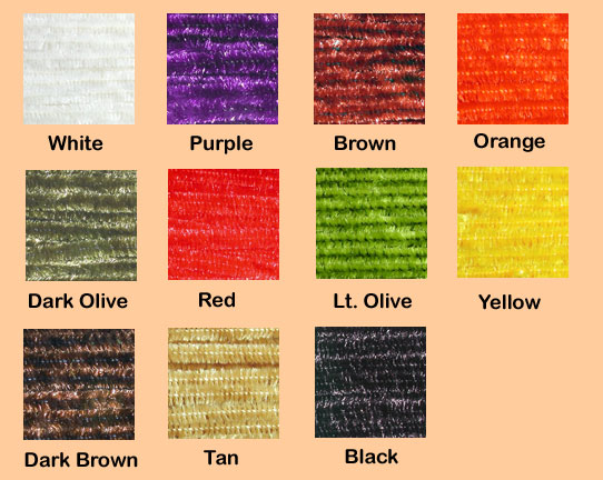 color chart Crystal Chenille